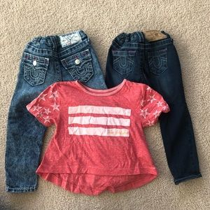 True Religion 3T Bundle